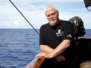 Paul Watson Kapitány a Steve Irwin fedélzetén